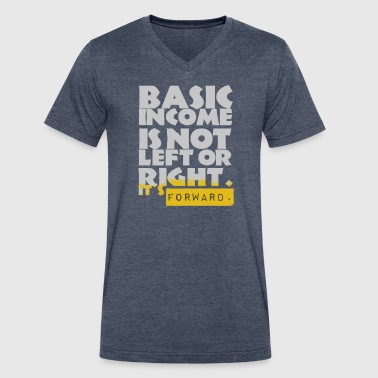 UBI is not Left or Right - Men's V-Neck T-Shirt by Canvas