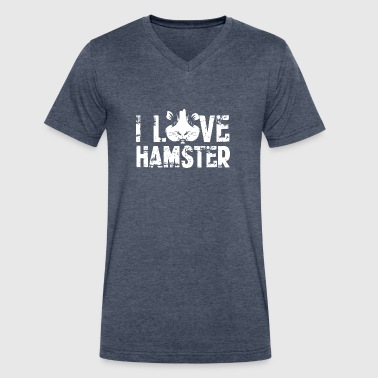 I Love Hamsters Shirts - Men's V-Neck T-Shirt by Canvas