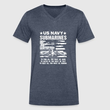 US Navy Submarine Tee Shirt - Men's V-Neck T-Shirt by Canvas