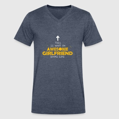 This Is What An Awesome Girlfriend Looks Like - Men's V-Neck T-Shirt by Canvas