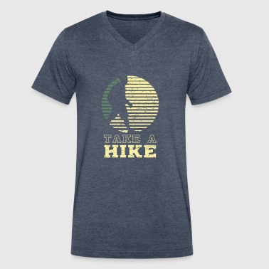 Hiking Gift Take A Hike - Funny Hiking Gift - Men's V-Neck T-Shirt by Canvas