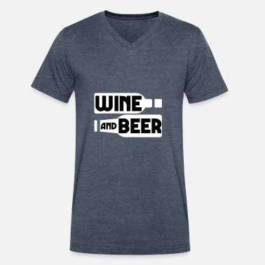 Beer And Wine Wine Beer - Men's V-Neck T-Shirt by Canvas
