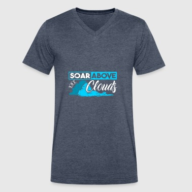 Kids Thunderstorm Soar Above The Clouds dream weather gift - Men's V-Neck T-Shirt by Canvas