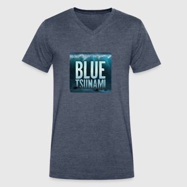 Blue Tsunami - Men's V-Neck T-Shirt by Canvas
