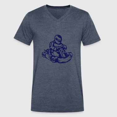 gokart - Men's V-Neck T-Shirt by Canvas
