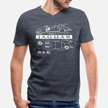 Jaguar Car lightweight xke - Men's V-Neck T-Shirt by Canvas