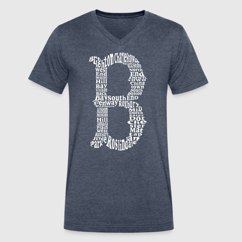 Cool Boston B Design - Men's V-Neck T-Shirt by Canvas