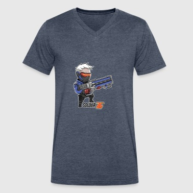 Soldier 76 - Men's V-Neck T-Shirt by Canvas