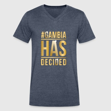 Gambia Gambia Has Decided - Men's V-Neck T-Shirt by Canvas