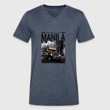 I Keep Comin' Back to Manila - Men's V-Neck T-Shirt by Canvas