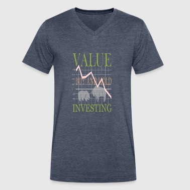 Value Investing - Men's V-Neck T-Shirt by Canvas
