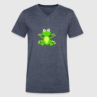 Cute Frog Frog cute - Men's V-Neck T-Shirt by Canvas