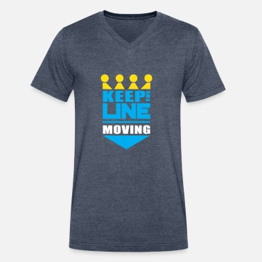 Kc Royals KC Royals Keep the Line Moving - Men's V-Neck T-Shirt by Canvas