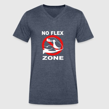 No Flex Zone No Flex Zone - Men's V-Neck T-Shirt by Canvas