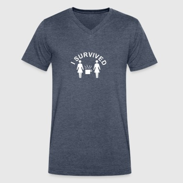 2 Girls 1 Rude 2 Girls 1 Cup - Men's V-Neck T-Shirt by Canvas