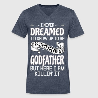 Worlds Okayest Godfather Perfect Freakin' Godfather - Men's V-Neck T-Shirt by Canvas