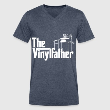 The Vinylfather Djing - Men's V-Neck T-Shirt by Canvas