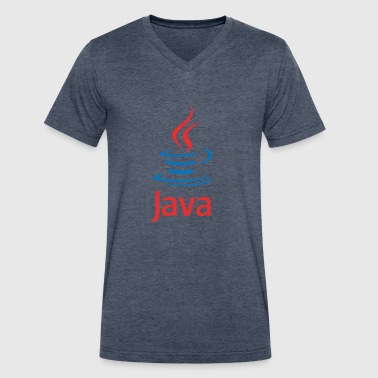 Java - Men's V-Neck T-Shirt by Canvas
