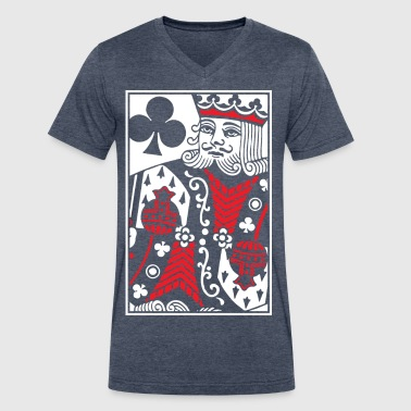 Cards Clubs Kings of Clubs - King Card - Men's V-Neck T-Shirt by Canvas