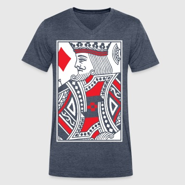 King Of Diamonds Kings of Diamonds - King Card - Men's V-Neck T-Shirt by Canvas