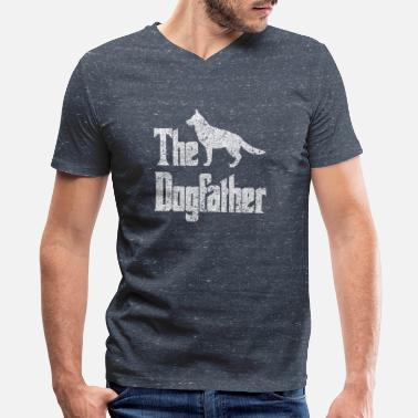 The Dogfather German Shepherd The Dogfather German Shepherd Dog, funny gift idea - Men's V-Neck T-Shirt