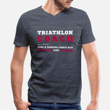 Triathlon Triathlon Coach - Funny Gift for Triathlon Coaches - Men's V-Neck T-Shirt