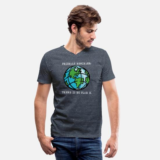 Enviromental T-Shirts - Happy Earth Day April 2018 Awareness T shirts - Men's V-Neck T-Shirt heather navy
