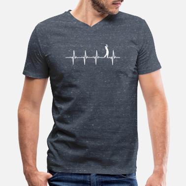 Golf Heartbeat Golf - Heartbeat - Men's V-Neck T-Shirt by Canvas