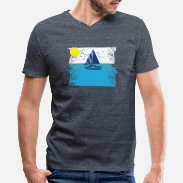 Baltic Sea Sea Baltic waves sailboat - Men's V-Neck T-Shirt