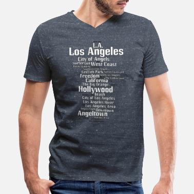 Los Angeles Los Angeles (L.A. Angeltown) - Men's V-Neck T-Shirt