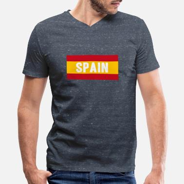 Spanish Madrid Madrid - Men's V-Neck T-Shirt by Canvas