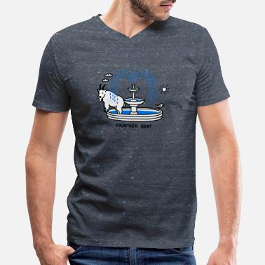 Water Bird Fountain Goat Bird Water Sun Gorgeous - Men's V-Neck T-Shirt