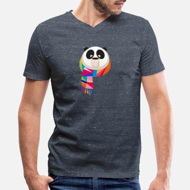 Schwertadel Panda 5 - Men's V-Neck T-Shirt by Canvas