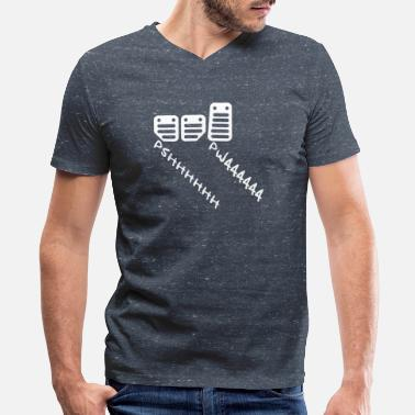 Pedals CARGUY PEDALS - Men's V-Neck T-Shirt by Canvas