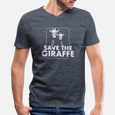 Animal Welfare Save the Giraffe Animal Welfare - Men's V-Neck T-Shirt by Canvas