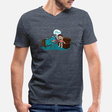 3d 3D - Men's V-Neck T-Shirt