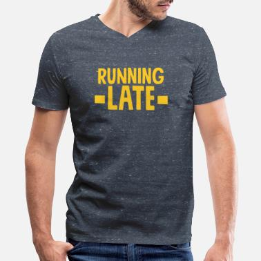 Running Funny Funny Running - Men's V-Neck T-Shirt by Canvas