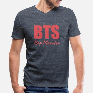 Rap Group BTS Group - Men's V-Neck T-Shirt by Canvas