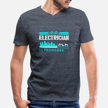 Progress The Best Electrician In Progress - Men's V-Neck T-Shirt