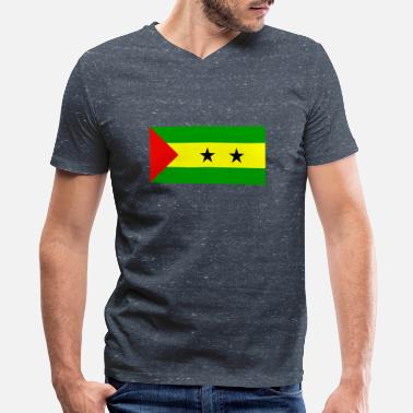 Sao Tome And Principe sao tome and principe - Men's V-Neck T-Shirt by Canvas