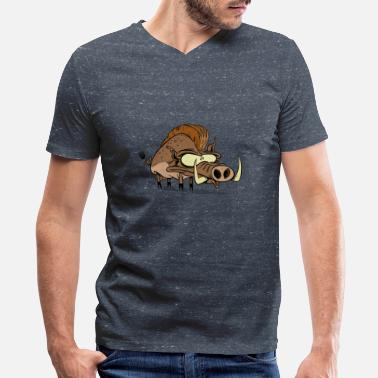 Hog Hog - Men's V-Neck T-Shirt
