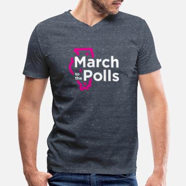 Poll Power to The Polls - Women to the polls_White - Men's V-Neck T-Shirt