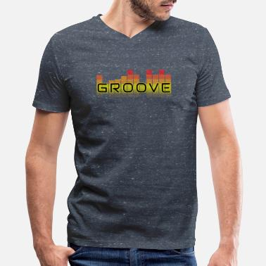 Groove Groove T-Shirt - Men's V-Neck T-Shirt by Canvas