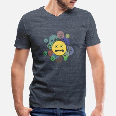 Funny Emoji emojis - Men's V-Neck T-Shirt by Canvas
