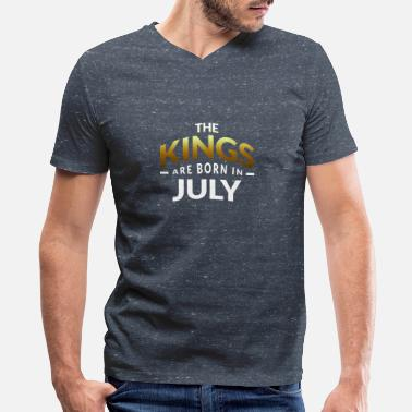 Prince Born In July Kings are born in July - Men's V-Neck T-Shirt by Canvas