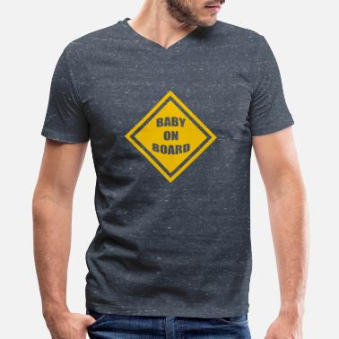 Babies On Board baby on board - Men's V-Neck T-Shirt by Canvas