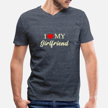I Love My Girlfriend I Love My Girlfriend - Men's V-Neck T-Shirt