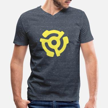 Record Vinyl 45 Adapter - Classic Yellow - Men's V-Neck T-Shirt