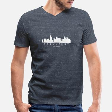 Frankfurt Frankfurt Germany Skyline - Men's V-Neck T-Shirt