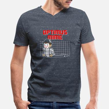 Mime Optimus Mime - Men's V-Neck T-Shirt by Canvas
